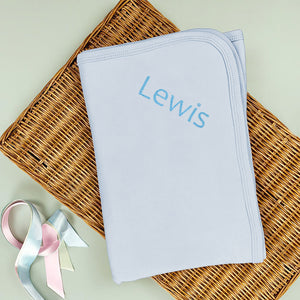 Personalised Snuggle Wrap, Blue