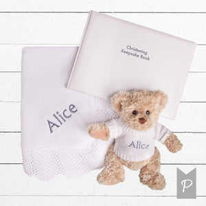 Personalised Christening Keepsake Gift Set