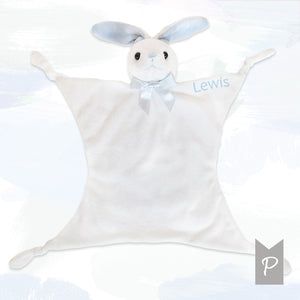 Personalised Little Blue Bunny Comforter