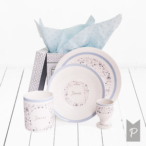 Little Love Personalised Breakfast Set - Blue