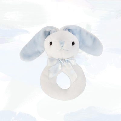 Little Blue Bunny Ring Rattle