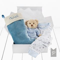 Bertie Bear's Christmas Eve Hamper, Blue
