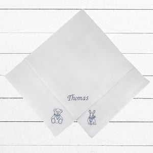 Personalised Muslin Set, Blue