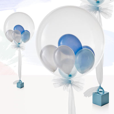 Luxury Blue Multi-Bubble Balloon
