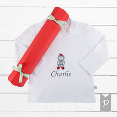Personalised Embroidered  Elf T-Shirt Christmas Cracker