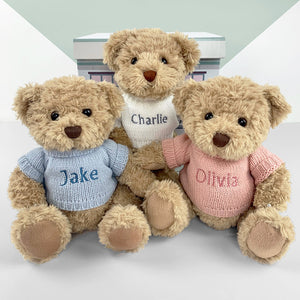 Personalised Bertie Bear, Pink