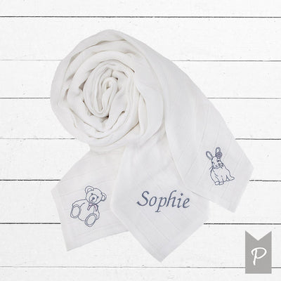 Personalised Muslin Set, Pink