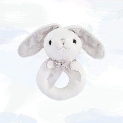 Little Grey Bunny Ring Rattle