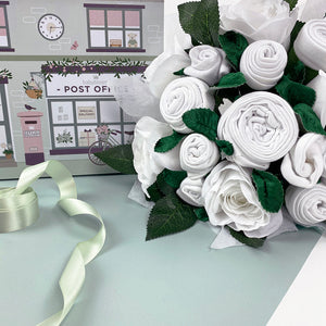 Luxury Rose Baby Clothes Bouquet - White