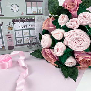 Luxury Rose Baby Clothes Bouquet - Pink