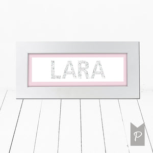 Personalised Baby Girl Name Frame