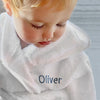 Little Love Bunny and Bathrobe Hamper, Grey - 1-2 Years with White Personalised Bathrobe