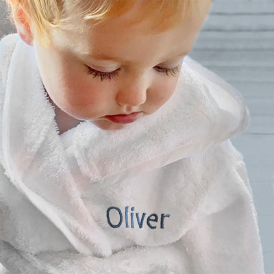 Personalised Bathrobe, Blue