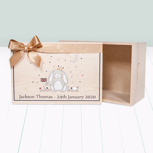 Little Royal Bunny Personalised Keepsake Box