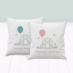 Little Bunny Personalised Nursery Cushion