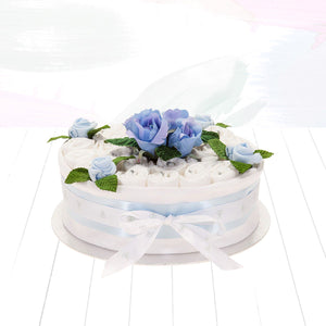 One Tier Nappy Cake - Blue