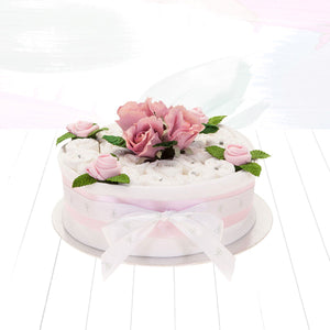 One Tier Nappy Cake - Pink