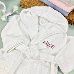 Personalised Bathrobe, Pink