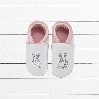 Baby Girl Leather Shoes, Bunny