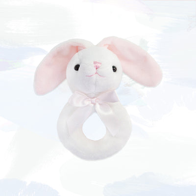 Little Pink Bunny Ring Rattle