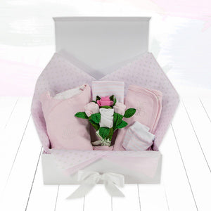 Personalised Baby Keepsake Box - Pink