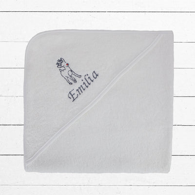 Personalised Reindeer Hooded Baby Towel