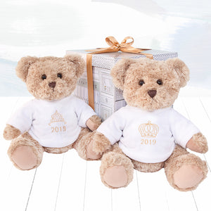 2019 Year Bear with Tiara Embroidery