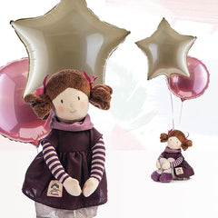 Moon and Stars Balloons with Evie Rag Doll