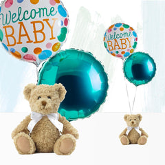 Welcome Baby Balloons with Bertie Gift