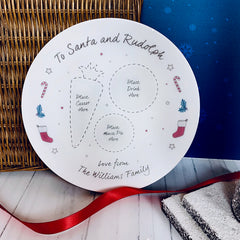Santa's Personalised Christmas Eve Plate