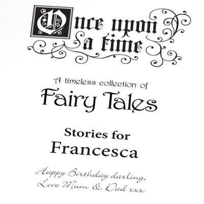 Personalised Classic Fairytale Book