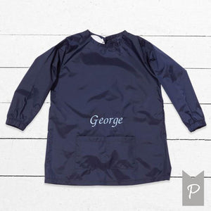 Personalised Childs  Painting Smock - Navy