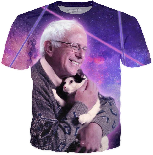 Unisex Bernie Sanders Loves Galaxy Kittens T-Shirt