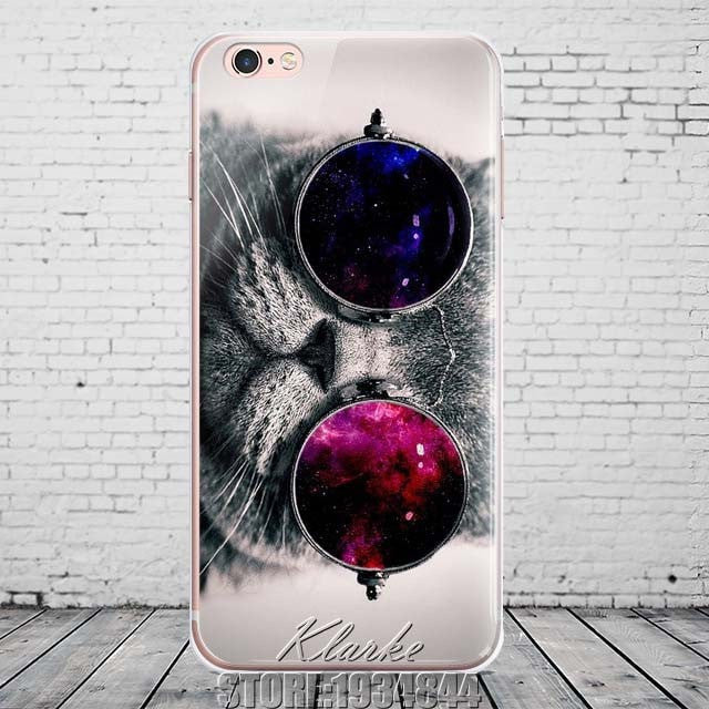Cute Cat with Glasses Phone Case