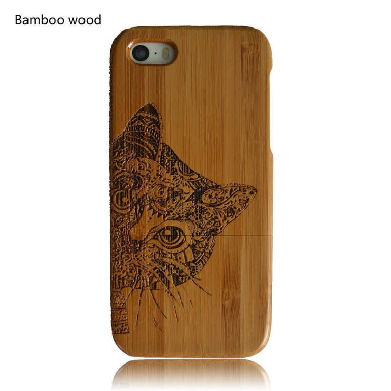 Wooden Cat Phone Case