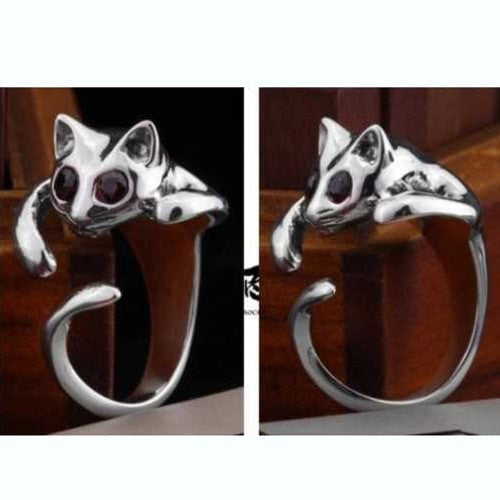 Crystal Cat Eye Ring