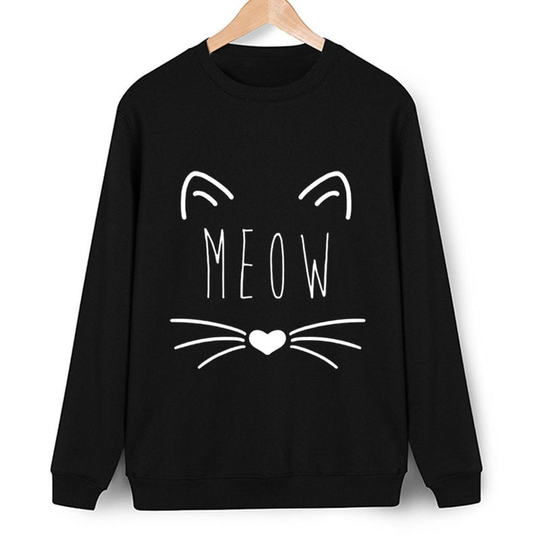 MEOW Cute Cat Longsleeve Sweater