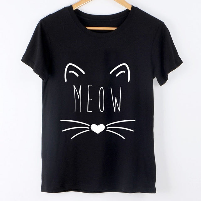 Meow Cute Cat T-Shirt