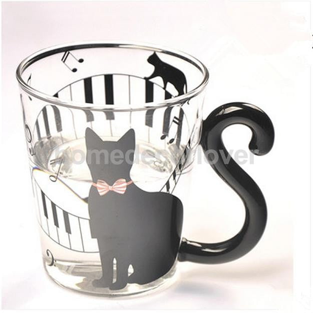 Cute Kitty Glass Tea Mug
