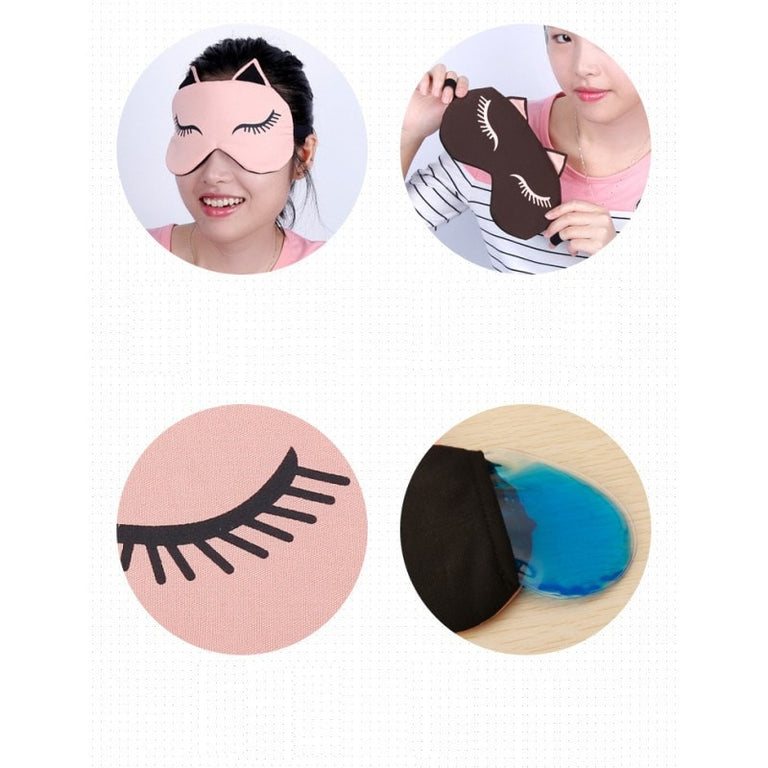 Cute Sleeping Cat Eye Mask