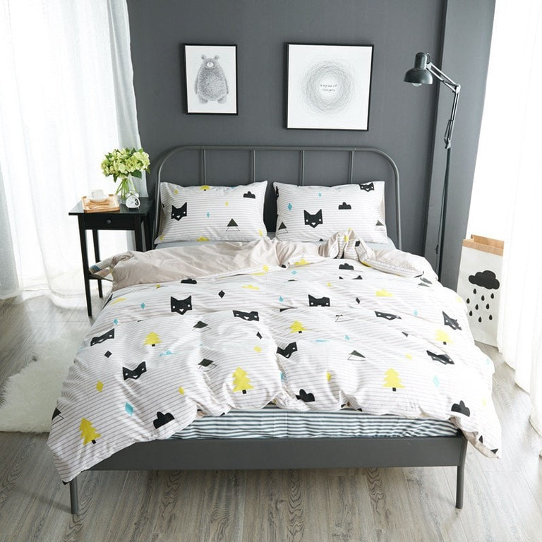 Cute Cat Bed Cover Set