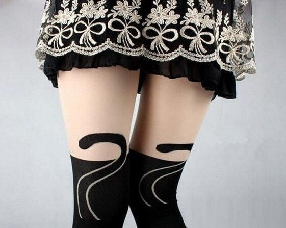 Black Cute Cat Leggings