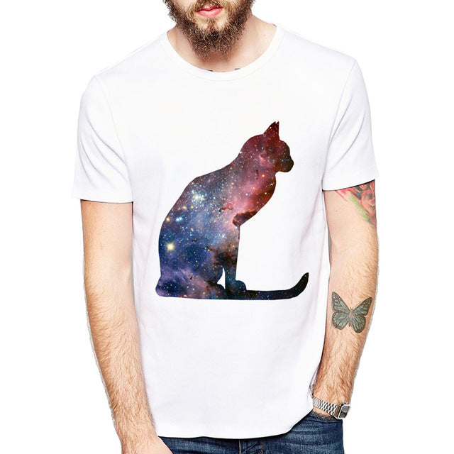 Space Galaxy Cats Unisex Shirt