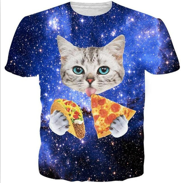Space Cat T Shirt Unisex