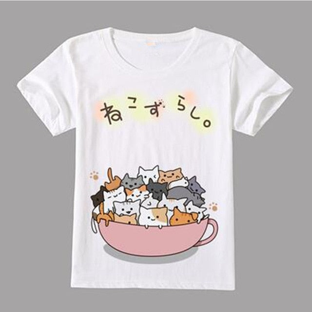 Anime Ramen Cat Shirts