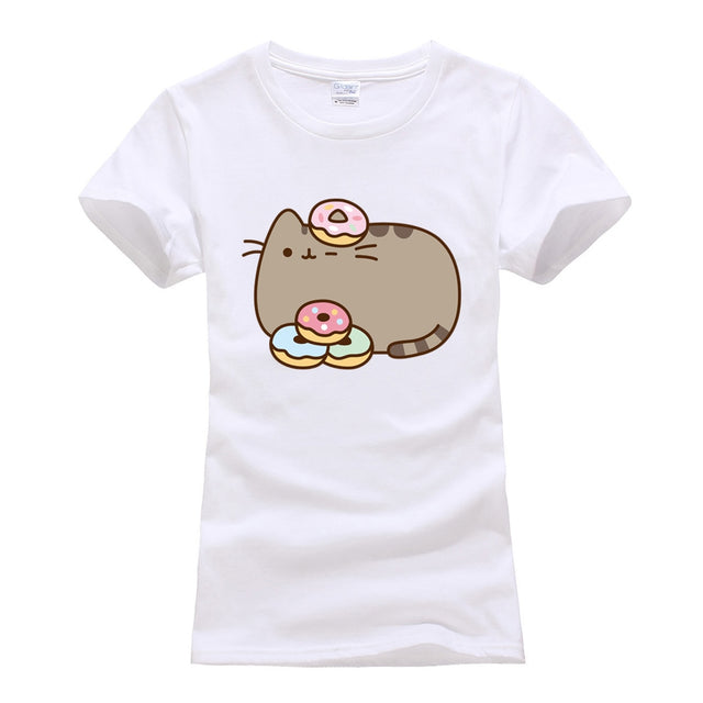 Doughnut Loving Pusheen Shirt