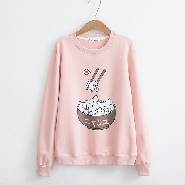 Ramen Cat Sweatshirts