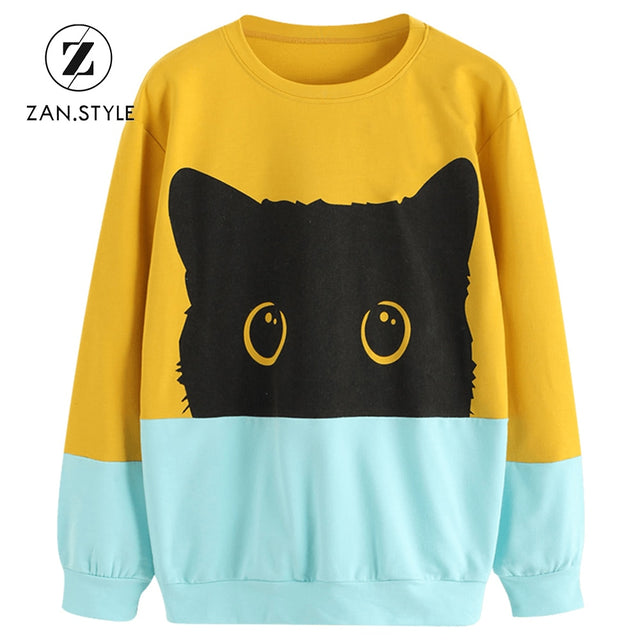 Hidden Black Cat Sweatshirt