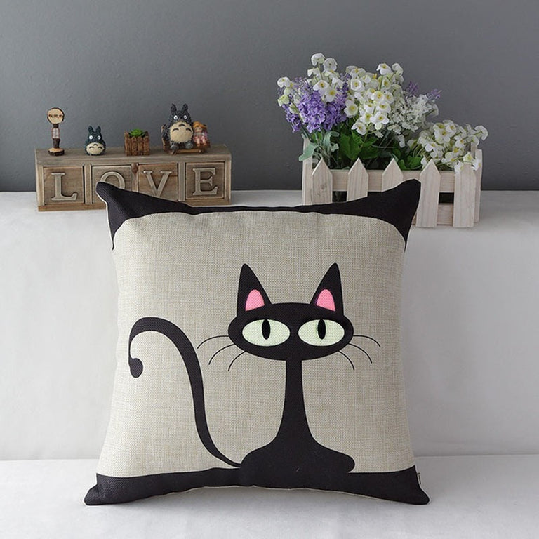 Cute Mystery Cat Pillow
