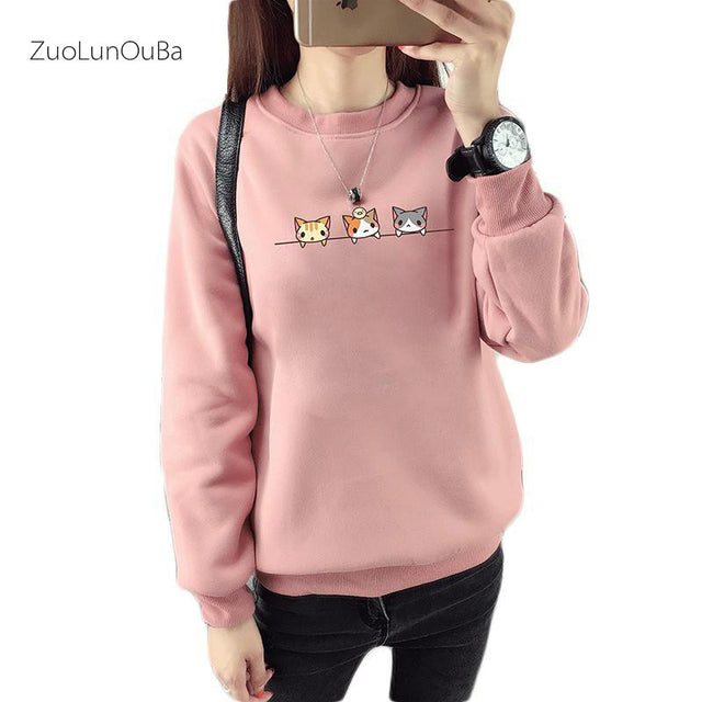 Harajuku Cat Women Hoodies